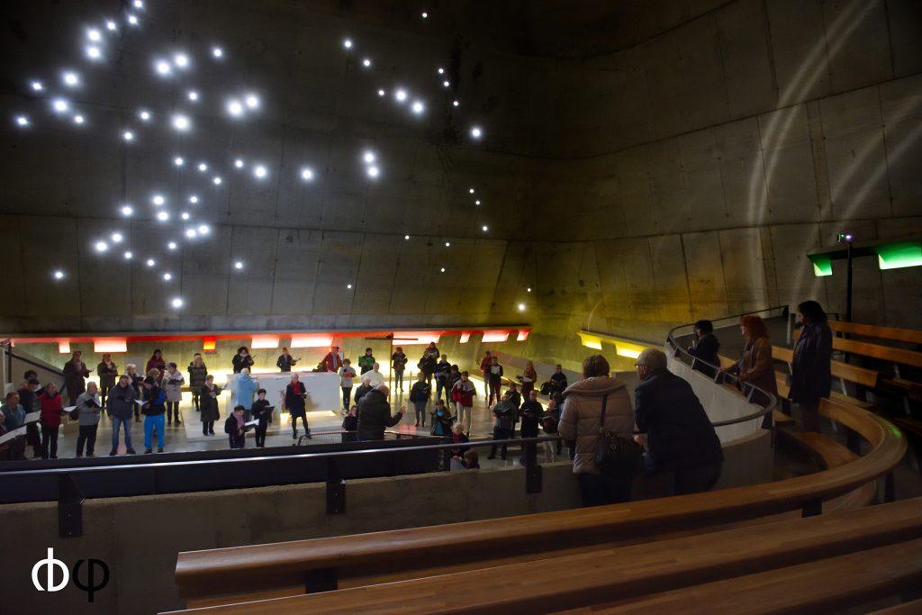 Choeur ondaine, 23/10/16, répétition à l'église le Corbusier