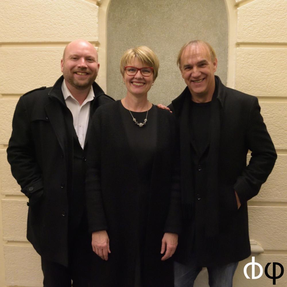 Pascal Descamps, Geneviève Dumas, Daniel Kawka, à l'issue du concert d'ouverture